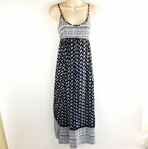 Womens American Eagle Blue Black Maxi Dress